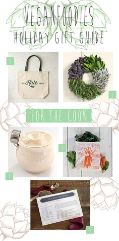 Vegan Foodies Holiday Gift Guide: For The Cooks Holiday Gift Guide, Holiday Gifts, Christmas Gifts, Vegan Gifts, Plant Based Eating, Foodies, Creatures, Husband, Place Card Holders