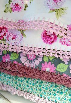 more lovely crochet edged pillowcases from rosehip