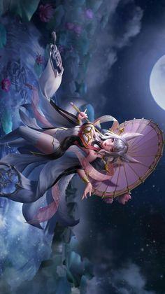 Survey New Skin Kagura Mobile Legend League Of Legends Characters, Lol League Of Legends, Fantasy Women, Fantasy Girl, Chica Anime Manga, Manga Girl, Fantasy Characters, Female Characters, Character Art
