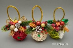 60 Marvelous DIY Christmas Decor Ideas - Her Crochet Christmas Projects, Christmas Time, Diy And Crafts, Christmas Crafts, Diy Christmas Ornaments, Christmas Tree Ornaments, Christmas Wreaths, 242, Natural Christmas