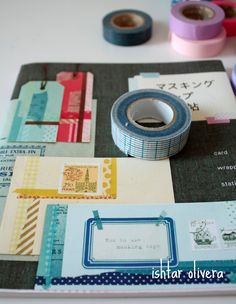 Diy Projects To Try, Crafts To Do, Paper Crafts, Fabric Tape, Paper Tape, Tapas, Masking Tape Art, Cinta Washi, Love Mail