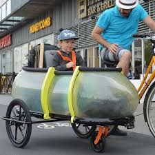 Here's that glowing, telescoping bicycle sidecar you've been looking for Bicycle Sidecar, Bike Trailer, Hacks, Tips