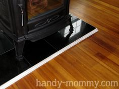 Handy Mommy: A simple DIY hearth for a pellet/wood stove!