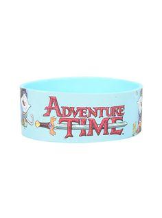 Adventure Time Finn & Jake Logo Rubber Bracelet,