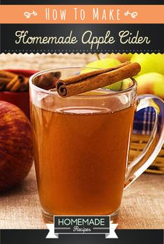 How To Make Homemade Apple Cider Recipes. | http://homemaderecipes.com/course/drinks/homemade-apple-cider-recipe/
