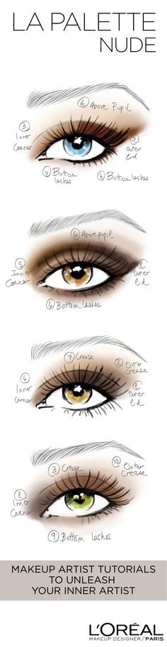 Unleash your inner artist with La Palette Nude. 10 shades per palette. Endless expert eye looks Get step by step tutorials by celebrity makeup artist, Sir John or create your ow (Makeup Step Eyeshadow) Pretty Makeup, Love Makeup, Makeup Inspo, Makeup Inspiration, Makeup Tips, Beauty Makeup, Hair Beauty, Makeup Primer, Style Inspiration