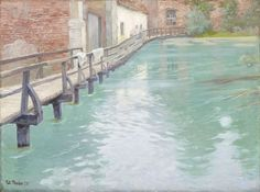 The Mills at Montreuil-sur-Mer, Normandy by Frits Thaulow 1891