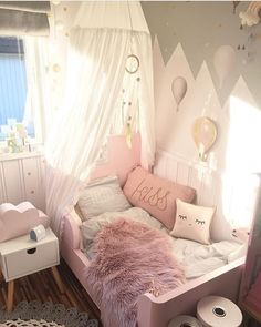 Ideas for baby bedroom girl dream rooms Toddler Rooms, Toddler Girl Beds, Toddler Canopy Bed, Kids Bedroom Ideas For Girls Toddler, Baby Canopy, Baby Bedroom, Room Baby, Little Girl Rooms, Luxurious Bedrooms