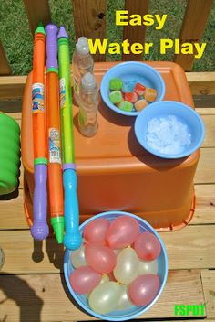 Ice cubes and water balloons by FSPDT  * summer activities for kids