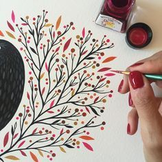 having so much fun painting this leaves with this awesome inks / pintando hojitas otoñales con estas increíbles tintas compradas en mi paraíso personal Watercolor Cards, Watercolour Painting, Watercolor Flowers, Painting & Drawing, Drawing Flowers, Watercolors, Drawing Poses, Guache, Fabric Painting