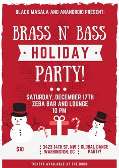 Brass n Bass Holiday Party@ Zeba Bar