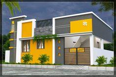 House Outer Design, House Front Wall Design, Single Floor House Design, Pooja Room Door Design, House Ceiling Design, Small House Design, Modern House Design, Front Elevation Designs, House Elevation