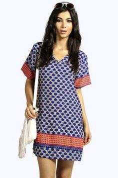 Petite Outfits, Tunics, Boohoo, Short Dresses, Printed, Casual, Shopping, Clothes, Color