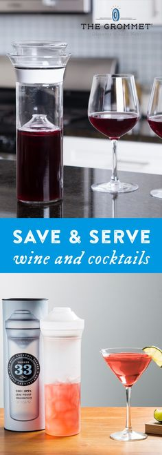 This innovative carafe  preserves the wine you open today for tomorrow and days to come. Now available in shatterproof plastic ideal for use outdoors.