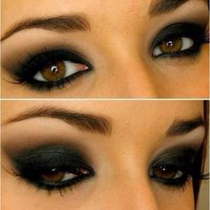 Steampunk smokey eye Beauty ❤ liked on Polyvore featuring beauty products, makeup, eye makeup, eyeshadow, eyes and beauty