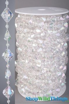 Crystal Garland, Crystal Beads, Chandelier Crystals, Beaded Garland, Bling Wedding, Diy Wedding, Wedding Flowers, Wedding Centerpieces, Wedding Decorations