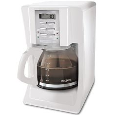 Mr Coffee SJX20 12Cup Programmable Coffeemaker White by Mr Coffee >>> Want to know more, click on the image.