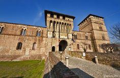 Pandino the Visconti castle. Lombardy - 45°24′N 9°33′E