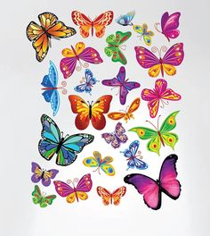 MADE IN THE USA with 100% USA MATERIALS        SIZE  --------------------------------------------    Butterflies range is size from 3 x 2 to