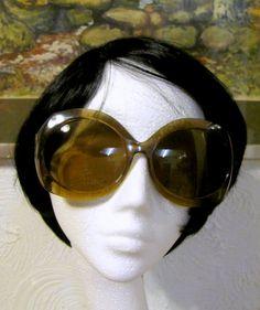 Movie star chic... Huge Vintage Sunglasses Retro 1960s Italian Designer by keepsies, £25.00