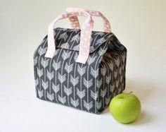 Custom Insulated Lunch Bag / Lunch Tote / Bento by binskistudio