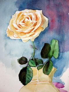 AQUARELLE - Rose NL Painting, Art, Pink Watercolor, Water Colors, Art Background, Painting Art, Kunst, Paintings, Performing Arts