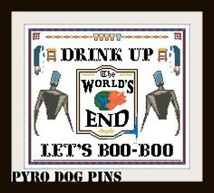 Drink Up Let's Boo-Boo / Pattern PDF 'The by PyroDogPins