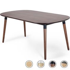 Edelweiss Seat Oval Extending Dining Table, Walnut and Black Extendable Dining Table, Walnut Table, Dark Wood, Dining Room, Home And Garden, Design Inspiration, Glasgow, Sims 4