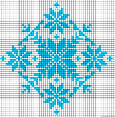 Winter design perler bead pattern