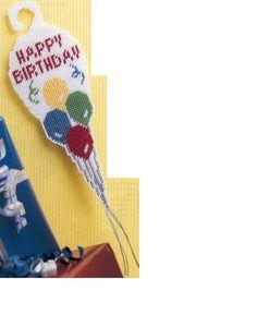 PC happy birthday door hanger