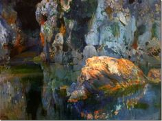 joaquim mir i trinxet_ El roc de l'estany - 1903 - detail