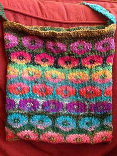 Ravelry: Project Gallery for Persian Poppy Waistcoat pattern by Kaffe Fassett Fair Isle Knitting, Knitting Socks, Knitting Stitches, Hand Knitting, Knitting Patterns, Crochet Woman, Knit Crochet, Knitted Bags, Knitted Gloves