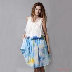 COTTON SILK MIX CLASSIC DRESS  DAROUSSO  $332.00 USD