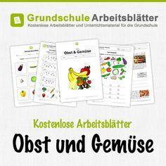 Kostenlose Arbeitsblätter Obst & Gemüse