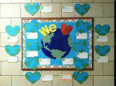 We - Heart - The Earth - Elementary Earth Day Bulletin Board