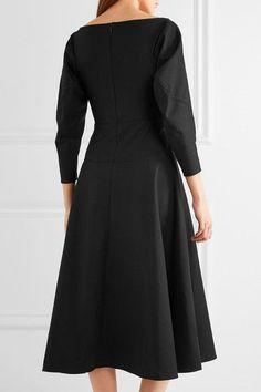 Rejina Pyo - Mina Cotton-blend Poplin Dress - Black - UK14