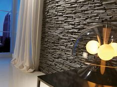 Pizarra Alpes Wall Panel is a decorative wall panel which gives a touch of modernity. Faux Stone Wall Panels, Faux Stone Walls, Decorative Wall Panels, Slate Wall Tiles, Modern Wall Paneling, Wall Panelling, Bathroom Cladding, Interior Design Books, Design Websites