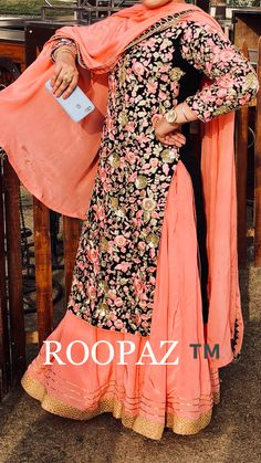 Indian Designer Suits, Indian Suits, Indian Attire, Indian Wear, Indian Dresses, Red Lehenga, Anarkali, Lehenga Choli, Sharara