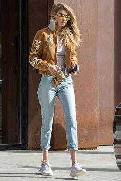 32bf650921 17 Times Gigi Hadid Transformed The Street Into Her Personal Runway - MTV  sunglasses  Gigi