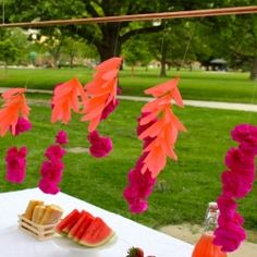 Here's a simple project that will add a little interest to your picnic table this summer.
