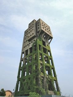 Shaft Tower of Shime Coal Mine / Japan / Fukuoka