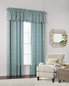 The Lucy Jacquard Pole Top Panel and Valance is a gorgeous woven window treatment featuring an elegant floral design. Although unlined, it is a great option as a room darkening panel. Use alone or accompanied by the matching valance for a more complete look.Features:-Available in Natural and Ocean Blue-100% Polyester-Unlined-Room Darkening-Hand Wash Cold Water, No Chlorine Bleach-Hang to Dry-Valance AvailableONLINE ONLY *This item is drop ship, it ships from one of our warehouse locations…