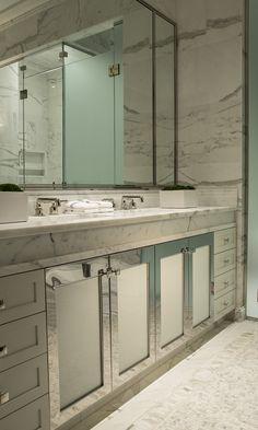 Magnifique salle de bain; design de Michael Dawkins !