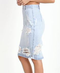 One Teaspoon Free Love Denim Pencil Skirt One Teaspoon Free Love Pencil