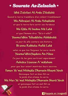 Sourate Az Zalzalah (99)