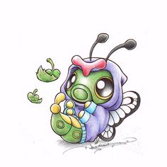 Just wanna be Free! Caterpie by birdychuart.