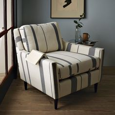 everett stripe chair. $599