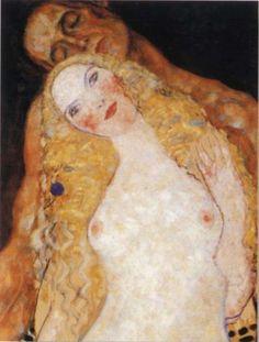 Adan y Eva Gustav Klimt