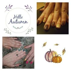 Autumnal nail art. Loving the season. Nail art shellac. Gel manicure