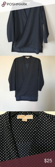 MICHAEL KORS WRAP BLOUSE SIZE S In great condition, fits loosely Michael Kors Tops Blouses